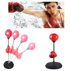 SAC DE FRAPPE Punching-ball avec gants de boxe entraînement Adul