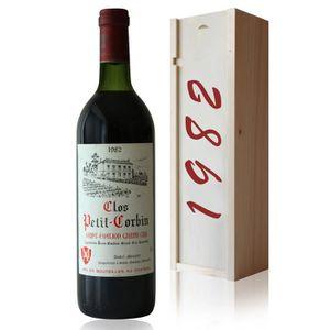 VIN ROUGE Coffret Château Clos Petit Corbin 1982 Rouge 75cl