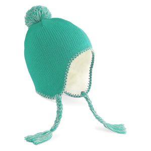 BONNET - CAGOULE Bonnet péruvien Beechfield Turquoise