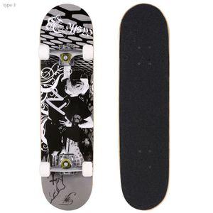 SKATEBOARD - LONGBOARD Skateboard complet mode PRO Print bois  PU roues