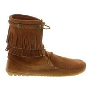 DOUBLE Achat BOTTINES T40 Marron FRANGES MINNETONKA 0wn8mN