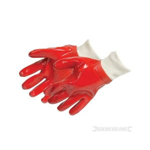 GANT DE CHANTIER Gants PVC rouges