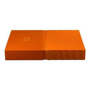 DISQUE DUR EXTERNE WESTERN DIGITAL My Passport - 4To - Orange