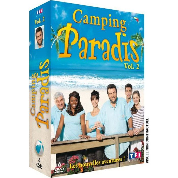 dvd coffret camping paradis vol 2 en dvd s rie pas cher albert didier ayme sylvie philippe. Black Bedroom Furniture Sets. Home Design Ideas