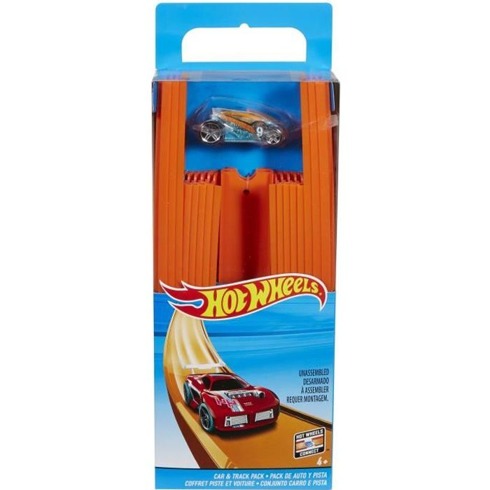 HOT WHEELS Track Builder Coffret Piste et Voiture
