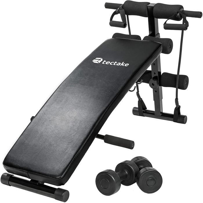 TecTake Banc de Musculation -Dimensions totales (LxHxB): Environ 129 x 70 x 55 cm - pour Muscles abdominaux Appareil de Fitness Spor