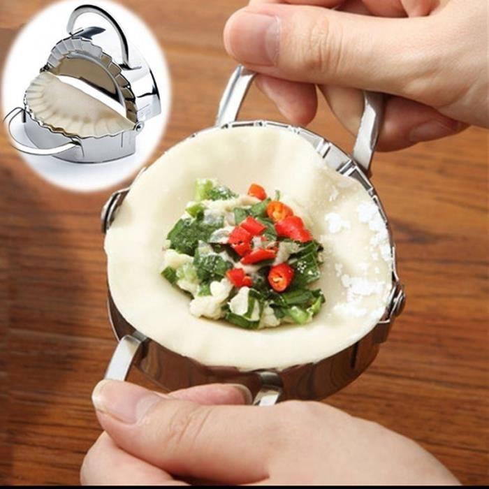 Moule à Ravioles Chinois Pratique, Ustensile De Cuisine en Acier Inoxydable -S
