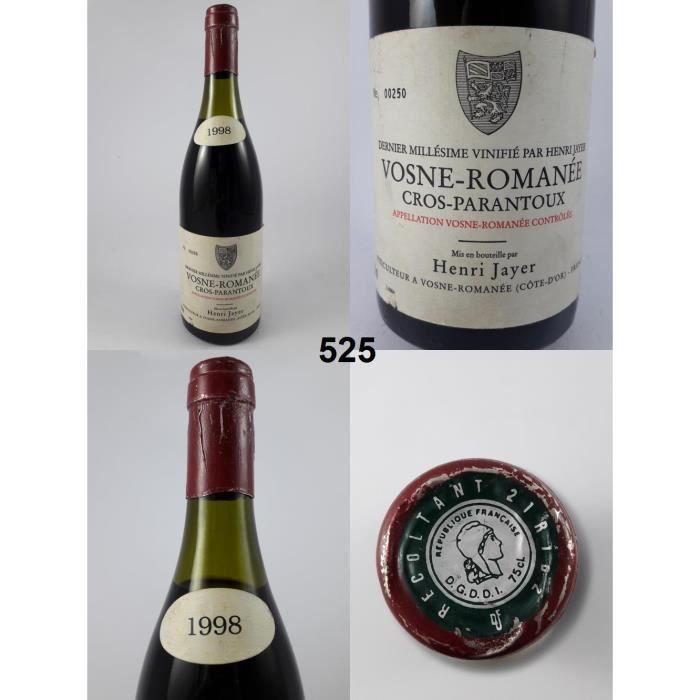 Cros Parantoux - Jayer 1998 - N° : 525, Vosne-Romanée, Rouge