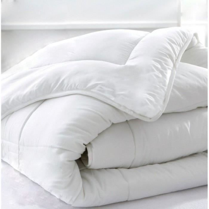 Couette hiver coton percale quality gel - 240 x 220 cm - 450g/m² Made in France