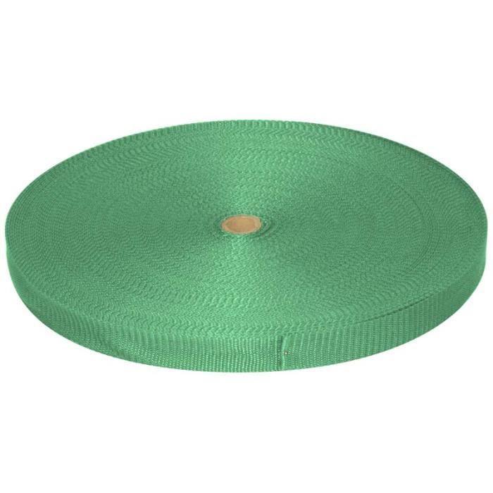 Sangle polypropylène - Vert clair - 30mm x 50m