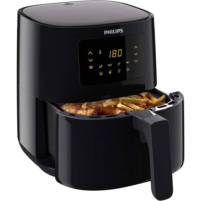 FRITEUSE Philips HD9252-90 Airfryer Compact Noir - Bien plus qu'une friteuse : faites cuire, frire, r&ocirctir et griller t22