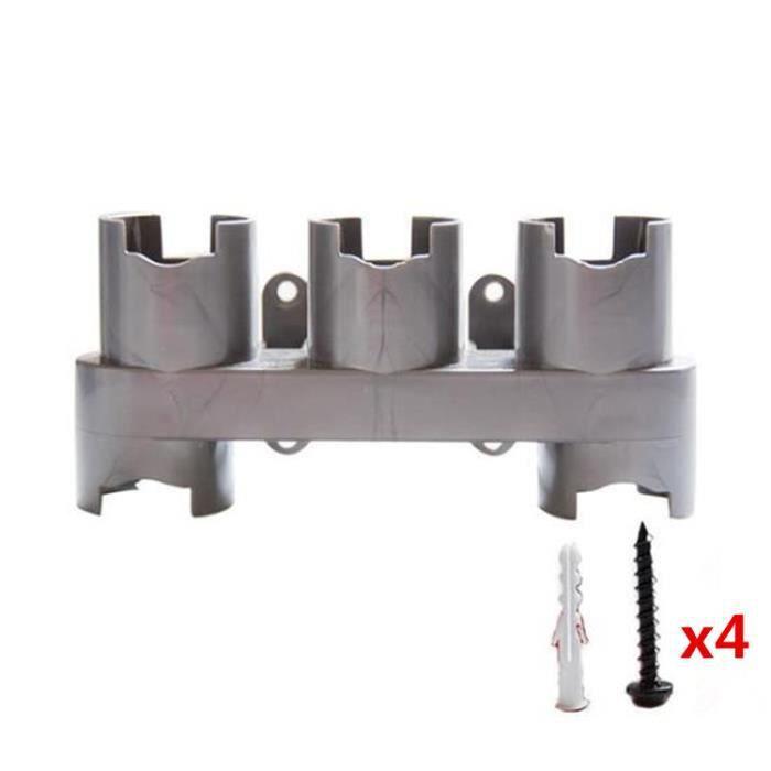 Support de montage mural pour accessoire d'aspirateur,Compatible/w Aspirateur Dyson V10, V8, V7 (Grey)