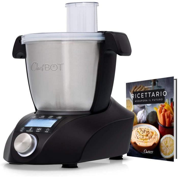 IKOHS Chefbot Compact - Robot de cuisine multifonction, compact, 23 fonctions, 10 vitesses avec turbo, 3,5 litres en acier inoxydabl