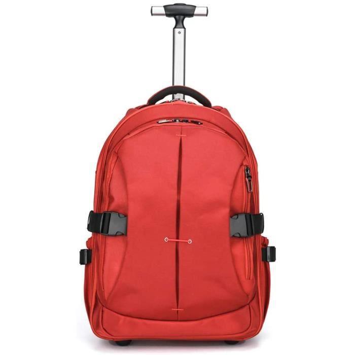 VALISE OU BAGAGE VENDU SEUL Roulant Bagages Scolaire Business Sac à Dos à roulettes Trolley Valise avec 2 Roues &E282
