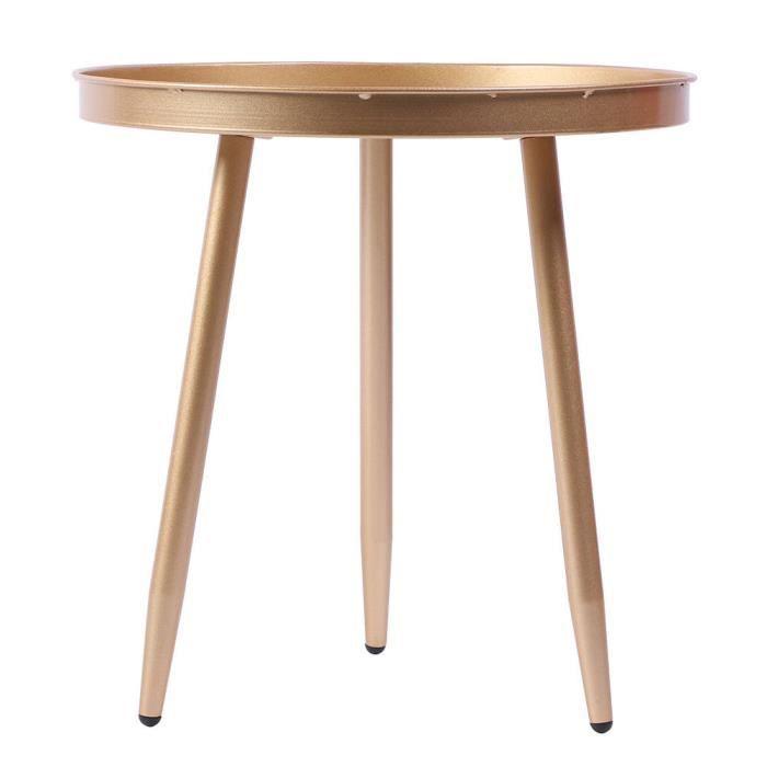 ESTINK Table ronde Table basse ronde en métal simple moderne de table d'appoint pour le salon à l'intérieur à l'extérieur