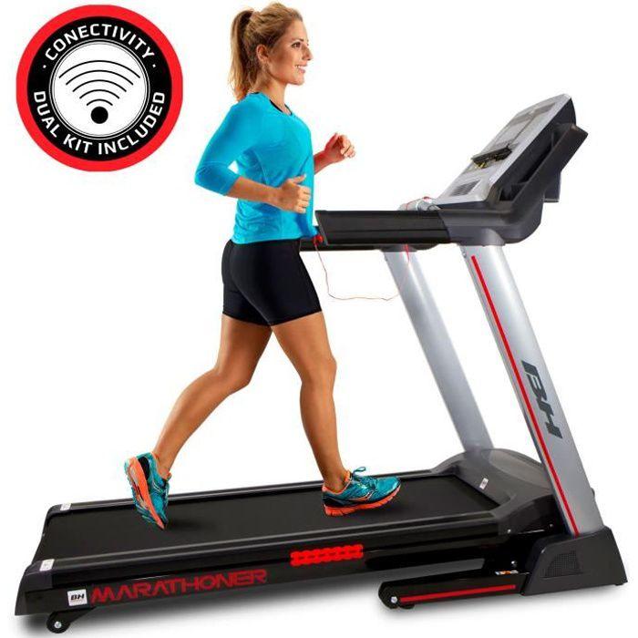 Tapis de course - 21 km-h - 8 ans de garantie. Dual kit. BH Fitness Marathoner G6458RF