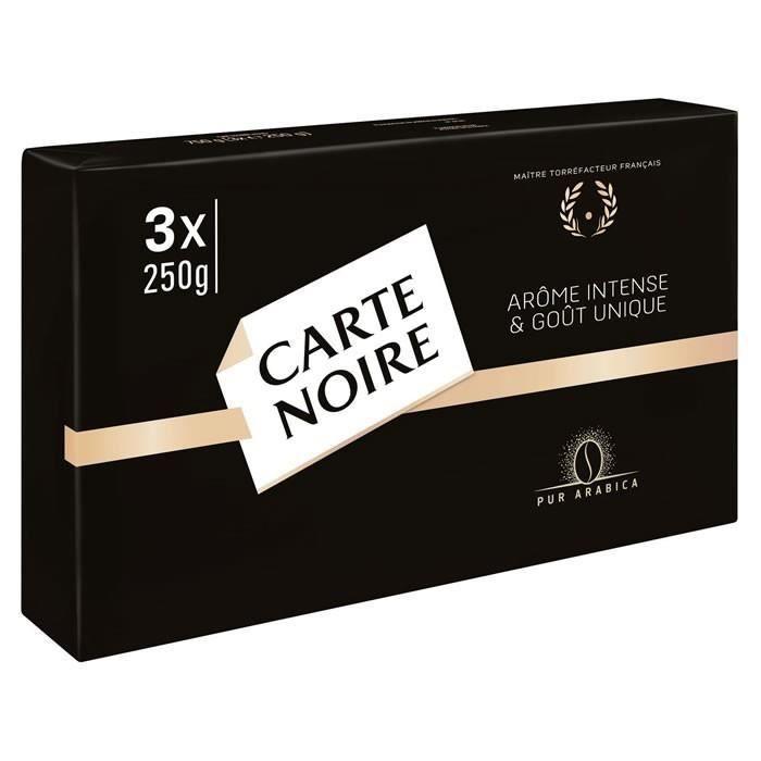 CARTE NOIRE : Café moulu Arabica3 x 250 g