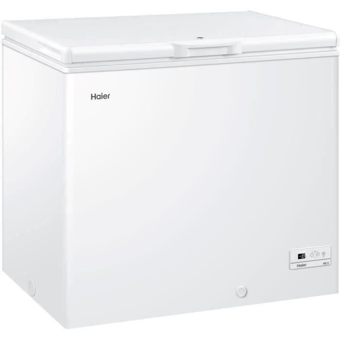 HAIER HCE203RAAE - Congélateur coffre - 203L - Froid statique - A+ - L94 x H84,5 cm - Blanc