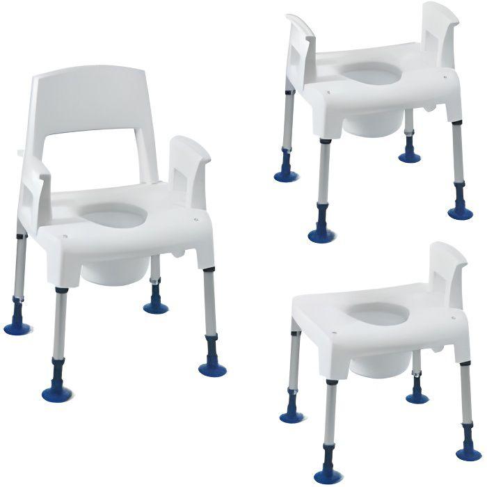 Chaise de toilettes percée modulable Pico Commode Aquatec