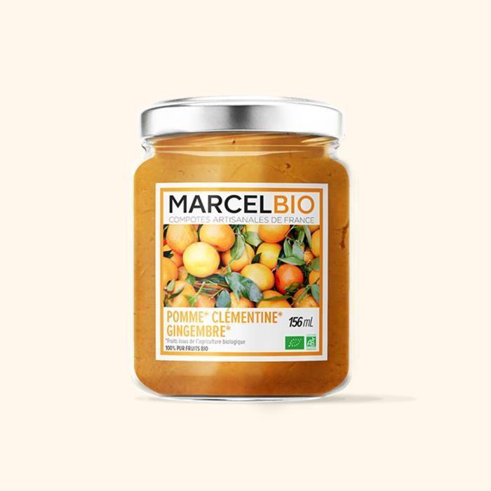 MARCEL BIO - Compote mixée pomme clémentine gingembre Bio