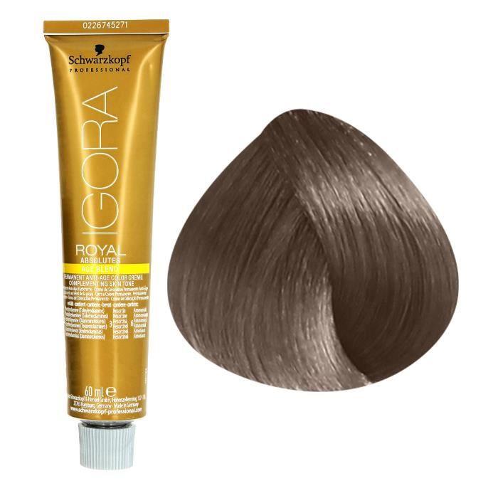 Schwarzkopf Coloration permanente anti-âge 7.50 : Blond moyen doré naturel , Crème 60ml