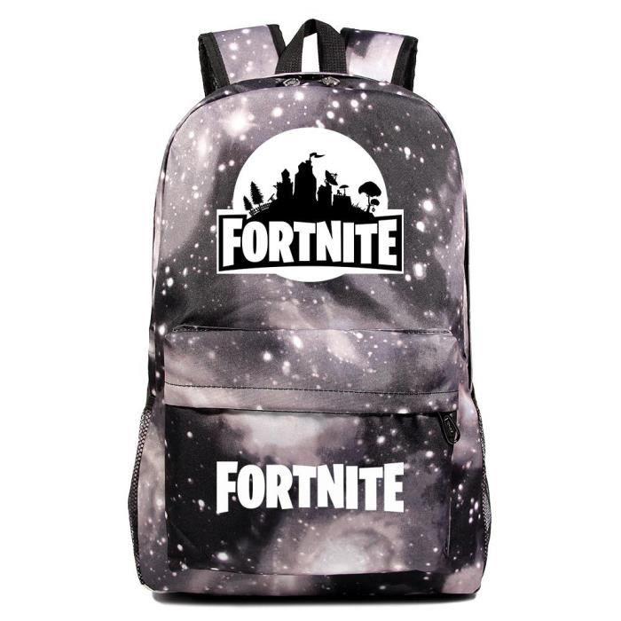 MOBIGARLAN Sac à Dos - Sac d'École dos Scolaire Fortnite imprimé étudiant Backpack pour enfant adolescent modèle 48