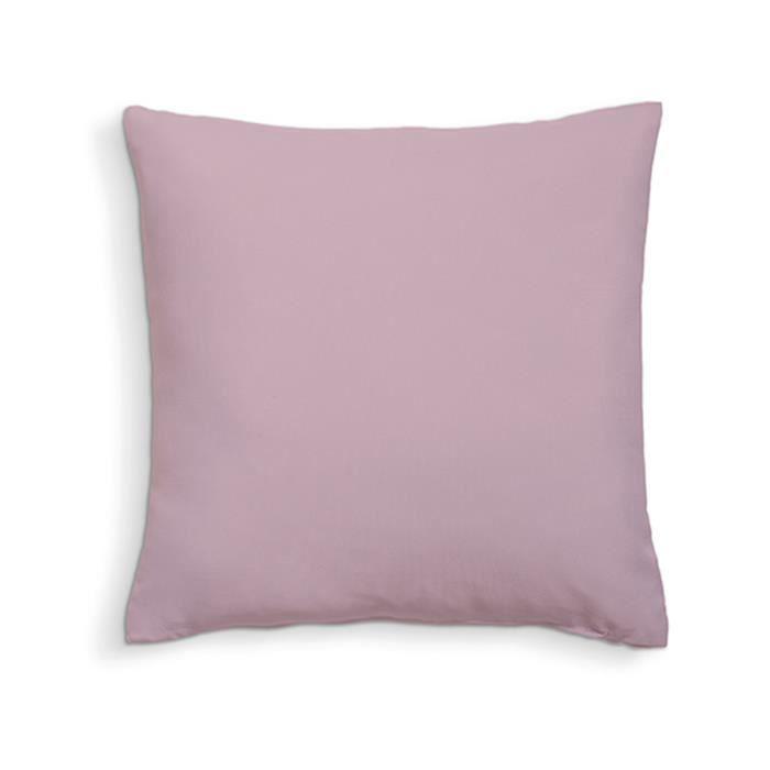 TODAY Coussin déhoussable 100% coton - 60 x 60 cm - Poudre de lila