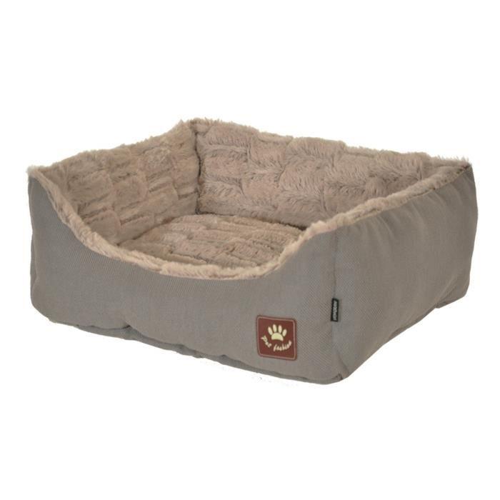 VADIGRAN Panier Asma - 45 x 40 cm - Taupe et gris - Pour chiens
