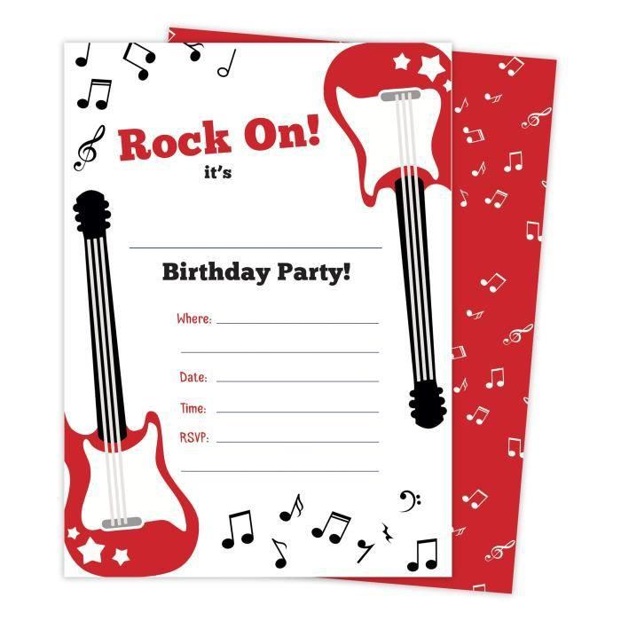 Guitare 2 Musique Invitations Joyeux Anniversaire Cartes D Invitation 25 Points Avec Enveloppes Yzwc6 Achat Vente Faire Part Invitation Guitare 2 Musique Invitations Cdiscount