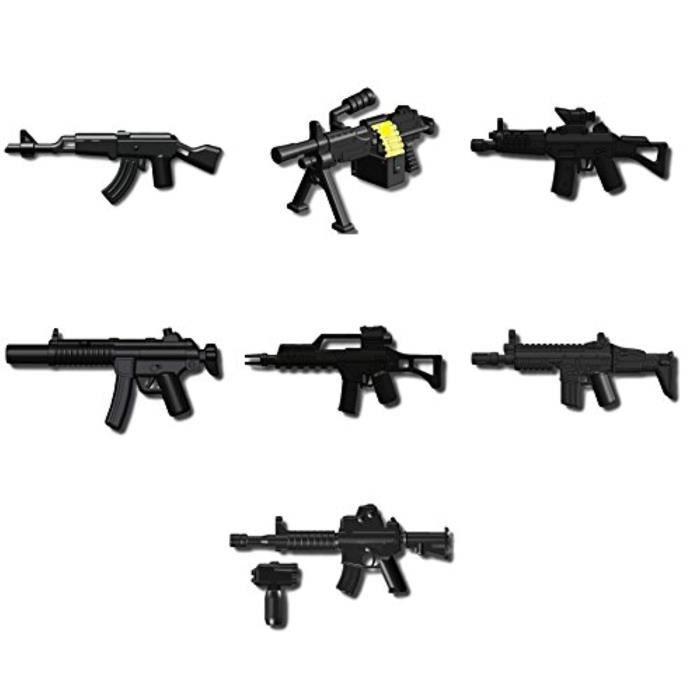 Lot 50 Armes Weapons pour minifigures jeux de construction Compatible Lego
