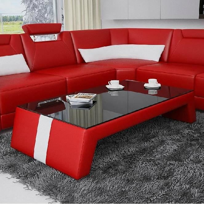 table basse design rouge et blanc taly achat vente table basse table basse design rouge et. Black Bedroom Furniture Sets. Home Design Ideas