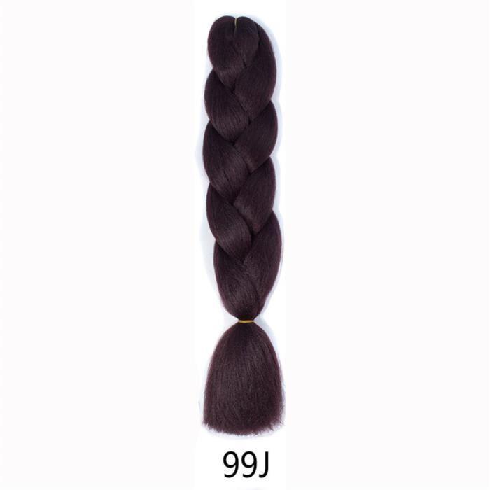 CHAPEAU - PERRUQUE Perruque de grandes tresses couleur monochrome de