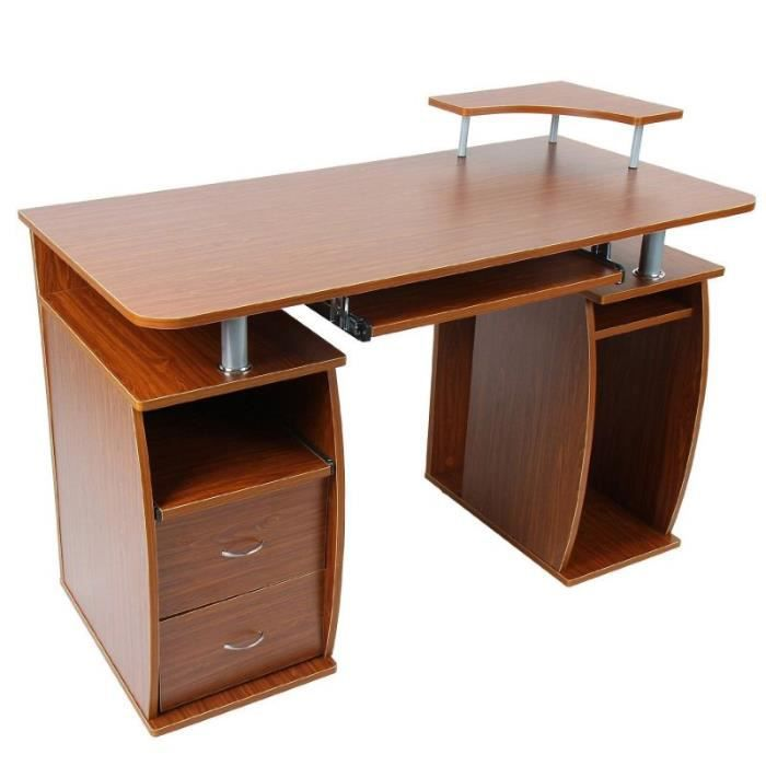 bureau informatique avec tablette 0501005 achat vente bureau bureau informatique avec ta. Black Bedroom Furniture Sets. Home Design Ideas