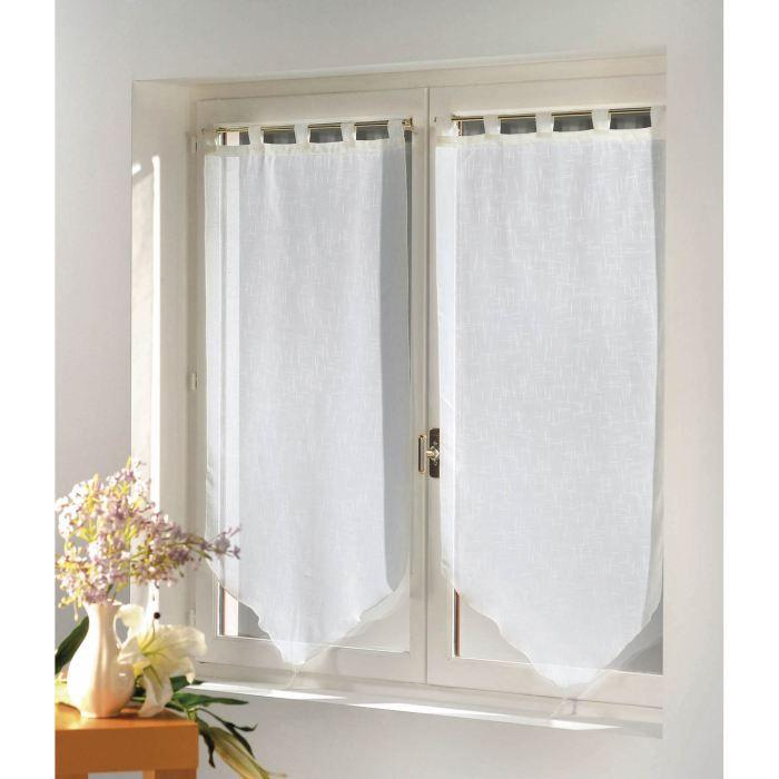 Douceur dInt/érieur Paire Pompon Voile Sable Lissea Polyester Blanc 120 x 45 x 120 cm
