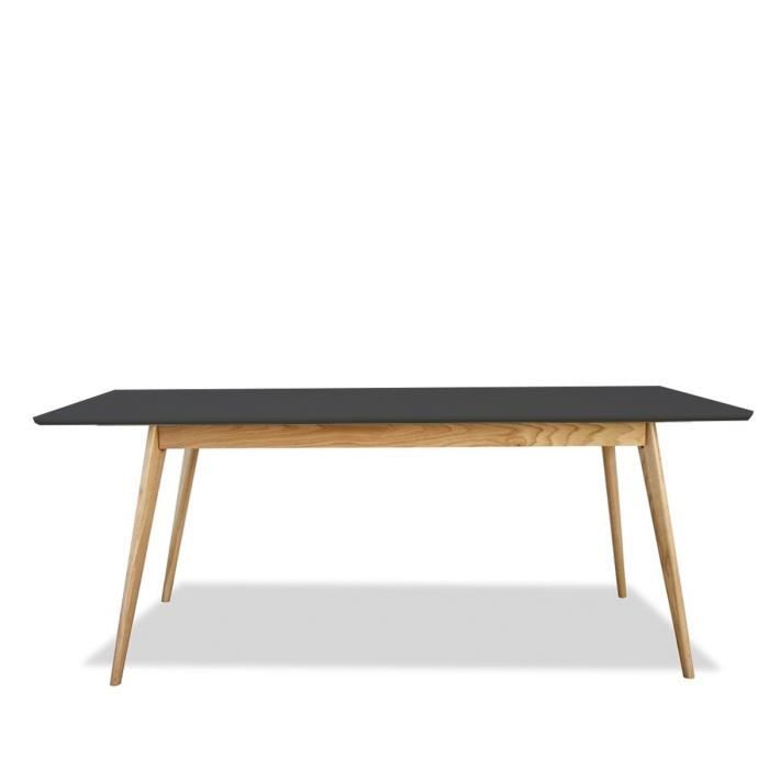 Table scandinave bois et laque large 180cm skoll couleur for Table bois design scandinave