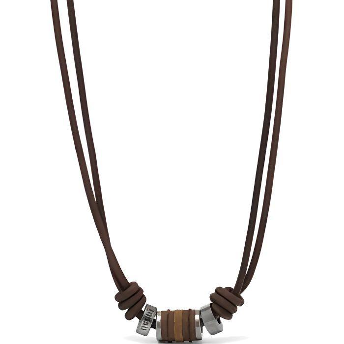 collier cuir homme 60 cm