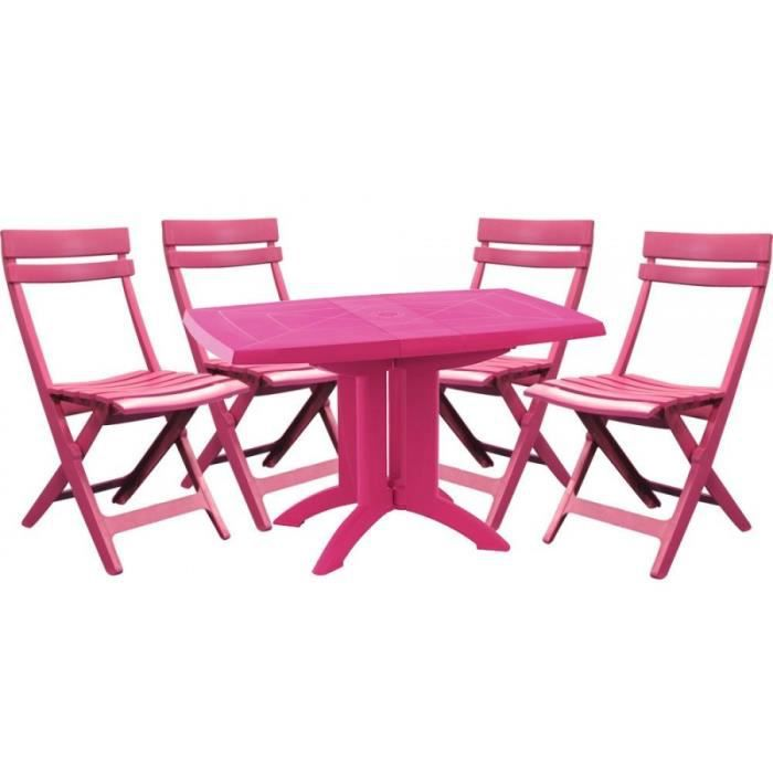 salon de jardin grosfillex fuchsia 1 tabl achat vente salon de jardin salon de jardin. Black Bedroom Furniture Sets. Home Design Ideas