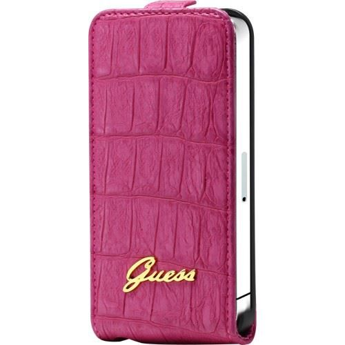 Etui guess a rabat finition croco rose iphone 4 4s for Housse iphone 6 guess