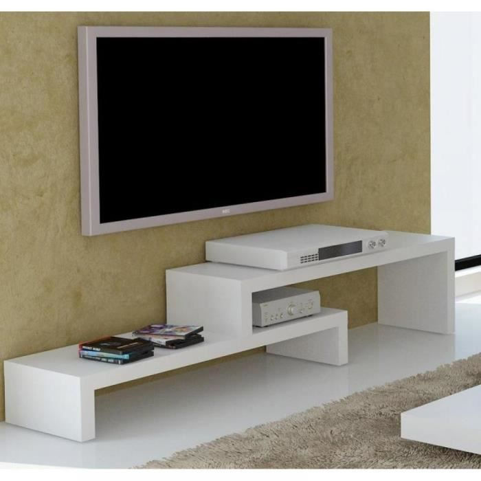 fuji meuble tv laque blanc mat design achat vente meuble tv fuji meuble tv laque blanc. Black Bedroom Furniture Sets. Home Design Ideas