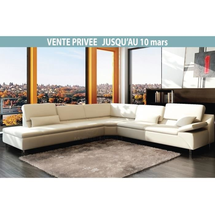 Canap d 39 angle en cuir italien 6 7 places plenitude for Canape angle 7 8 places