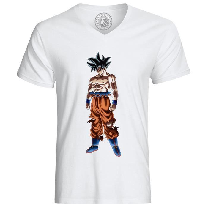 Goku Dragon Ball Z Super Héros Blanc T Shirt Hommes Femme Unisexe En Coton Coupe Standard