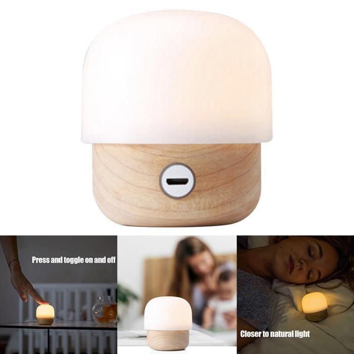 PULABO 1 Pcs R/éveil LED Night Light Mini Horloge De Table Debout Aide de Sommeil pour Home Office Blanc /Él/égant et Populaire durable