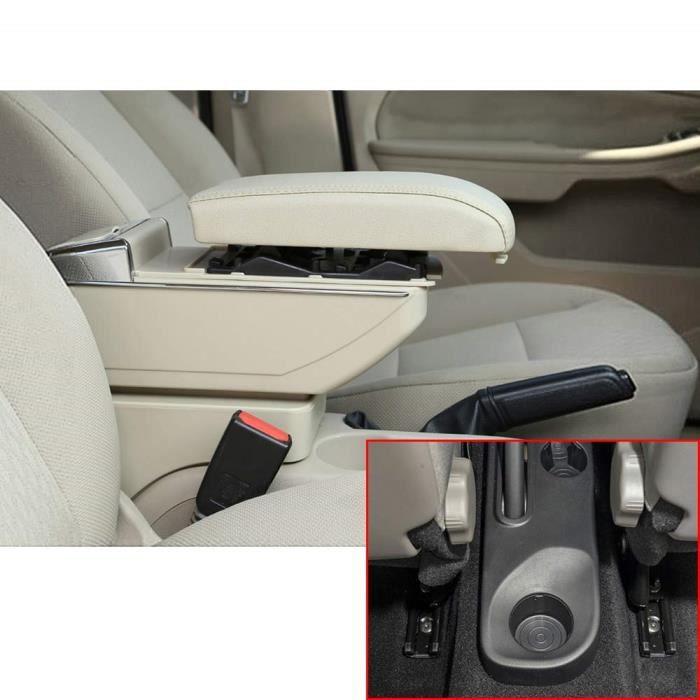 Pour Kaptur Captur QM3 14-17 Avanc/ée Voiture Accoudoir Accessoire Avec fonction de charge 7 ports USB /éclairage LED Interne Beige