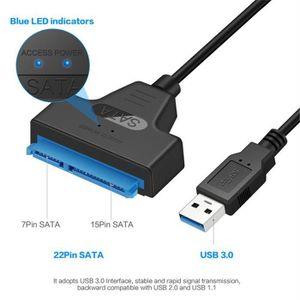 CÂBLE INFORMATIQUE USB 3.0 vers SATA 22 broches 2,5 pouces Disque dur