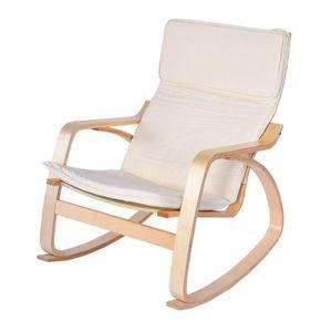 CHAISE DE BUREAU VAGUE Fauteuil à bascule bois de bouleau de chaise
