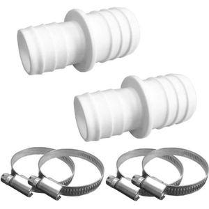 Kit avec joint torique et colliers de serrage en acier inoxydable Pangaea Tech Raccord de tuyau de piscine 32-38 mm avec filetage 1,5