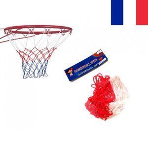 TRIXES 2 x Filet de Basket en Nylon Rouge//Blanc//Bleu 12 Boucles