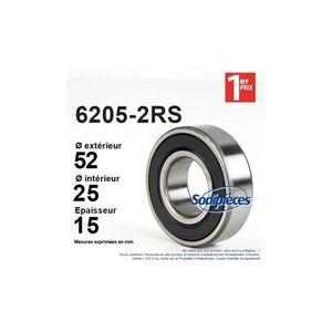 25mm x /Øext Roulement 52mm x 15mm 6205-2RS /Øint