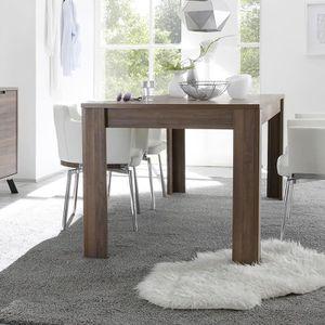 TABLE À MANGER SEULE Table à manger contemporaine couleur noyer JACE 2