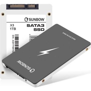 DISQUE DUR SSD TCSUNBOW Disque Dur SSD interne 1To - 2.5